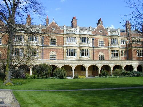 Sidney Sussexs Cloister Court, where the garden party will be held.
