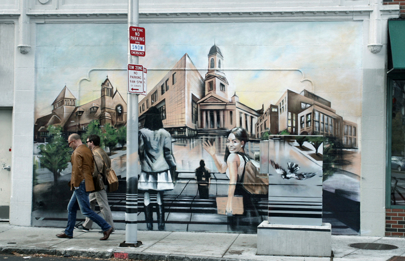 The mural may be painted over as soon as March 1, possibly with a New Orleans-style sendoff. (Photo: Timothy Dungan-Levant)