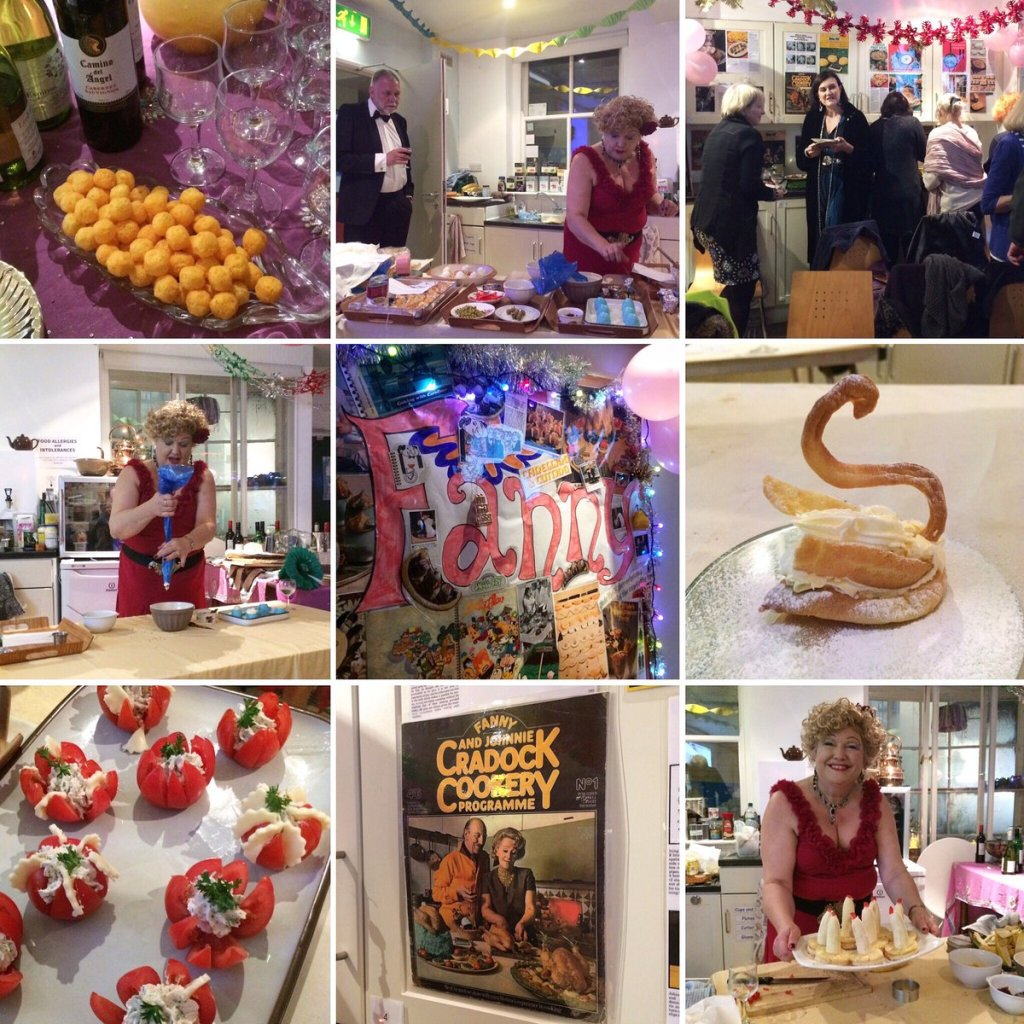 Scenes from the Fanny Cradock  Christmas Party