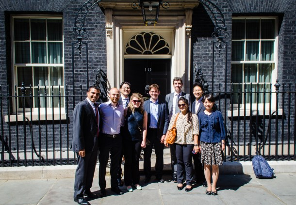 The healthcare concentration MBA's visit Downing Street