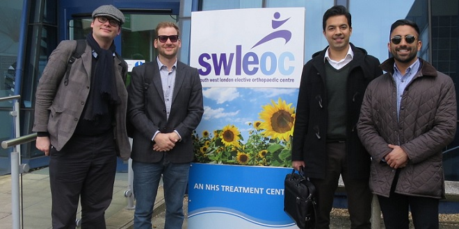 Team Addenbrookes outside SWLEOC