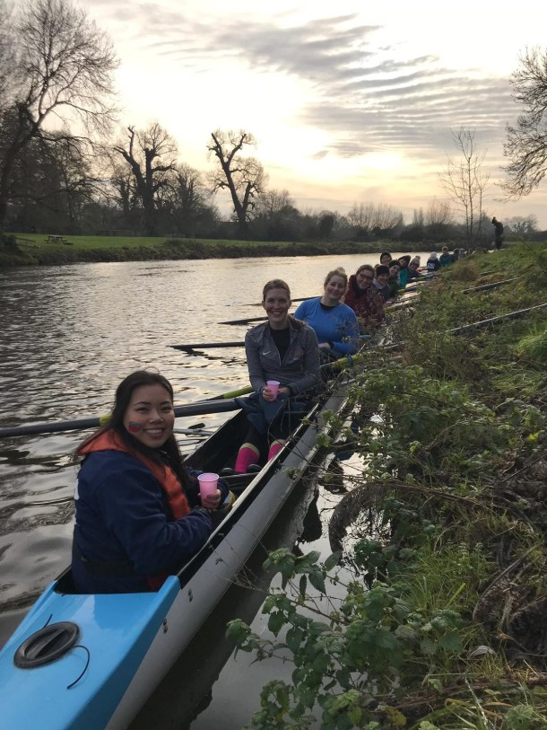 Rowing for Darwin College Cambridge