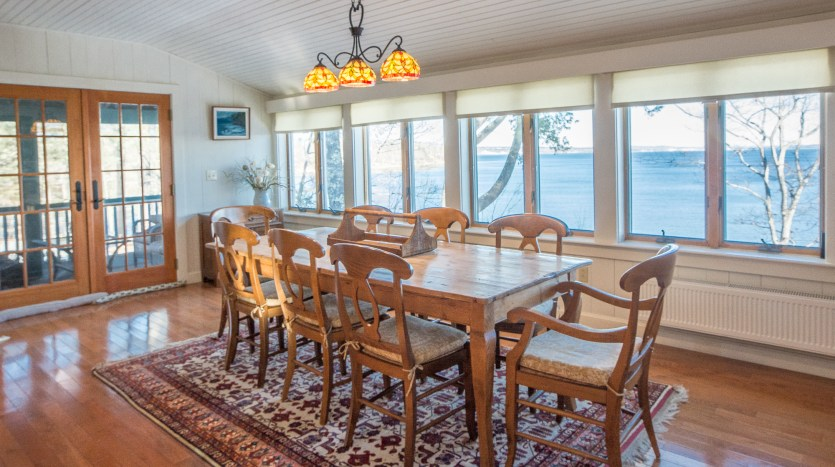 Dining room and door to screened porch