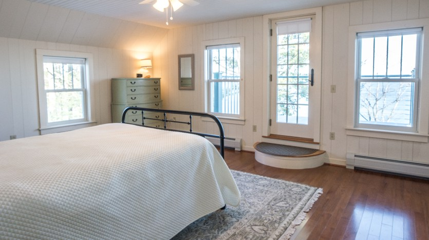 Second floor bedroom with private balcony