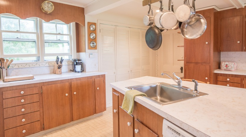 Farmhouse kitchen with plenty of counters and cabinets