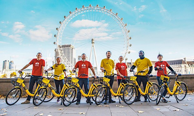 Fleet: Ofo now operate in 10 London boroughs. Photograph: ofo UK