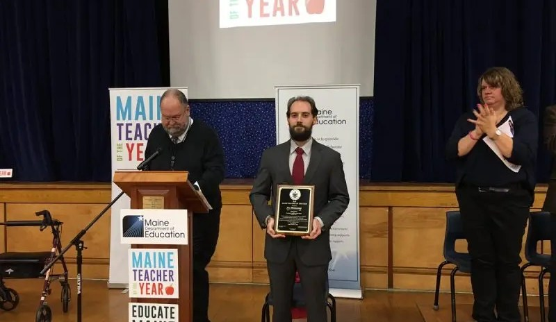 Piscataquis Community High School Teacher and Camden Conference in the Classroom educator, Joe Hennessey, Named Maine 2019 Teacher of the Year