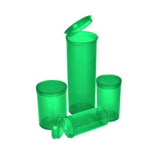 Green Pop Top Bottles 13 Dram