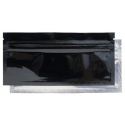 Mylar Smell Proof Bags for Edibles & Pre-Roll - Black/Clear