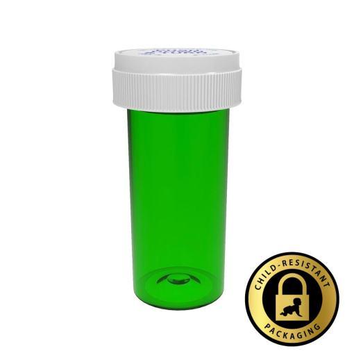 Green Reversible Vials with Dual Purpose Caps 30 Dram