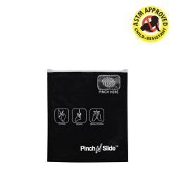 "Black ASTM Child Resistant Pinch N Slide Exit Bags 3.4"" x 3.7"""