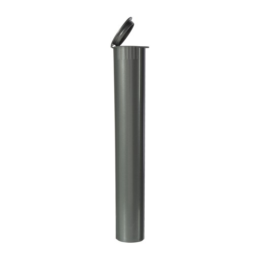 Child-Resistant Opaque Silver Pre-Roll Tubes 116 mm