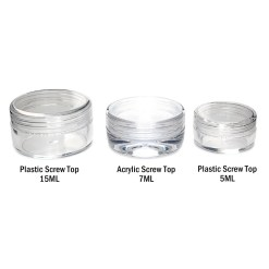 Acrylic Screw Top Concentrate Containers 7ML