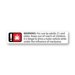 Oregon Compliant Generic Warning Labels