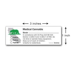 Medical Marijuana Labels California State Design