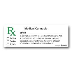 Michigan Compliant - Medical Marijuana Labels