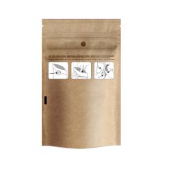 Child Resistant Kraft Dymapak Bags 1/8 Ounce