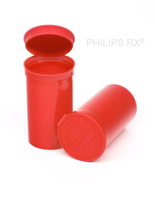 19 Dram Opaque Strawberry PHILIPS RX® Pop Top Containers