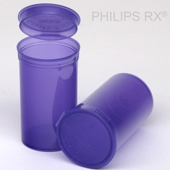 19 Dram Translucent Violet PHILIPS RX® Pop Top Containers