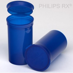19 Dram Translucent Blue PHILIPS RX® Pop Top Containers