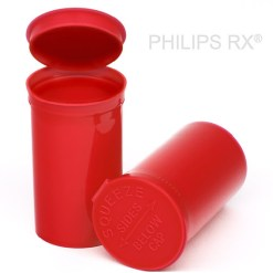 13 Dram Translucent Red PHILIPS RX® Pop Top Containers