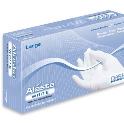 Exam Gloves Alasta White Nitrile