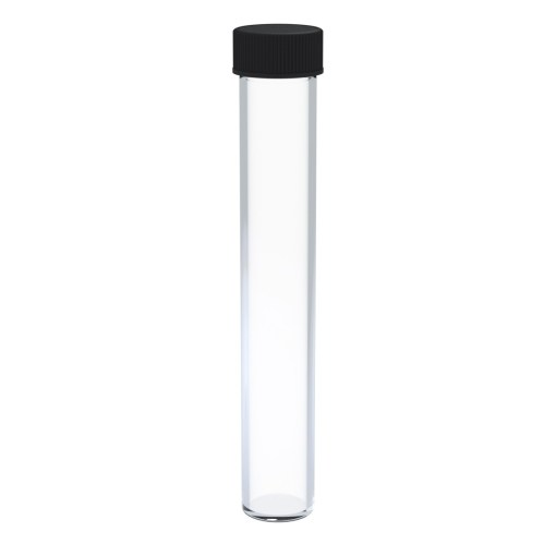 glass-cone-tube-tall-wide-with-black-cap