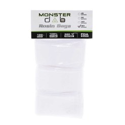 "2"" x 10"" 180 Micron Monster Dab Rosin Bag - 100 Units"