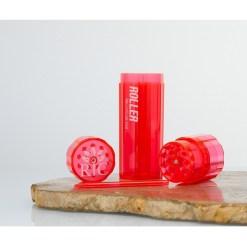 High Roller Grinder and 84mm Cone Filler Red