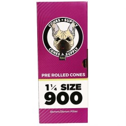 """CONES + SUPPLY 84mm Pre-Rolled Cones Brown 1 1/4"""""""