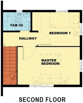 camella malvar, bella second floor plan