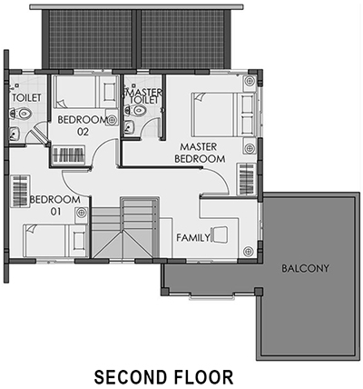 camella capiz freya second floor plan