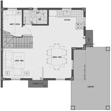 camella pili dani ground floor plan