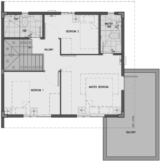 camella homes dani second floor plan