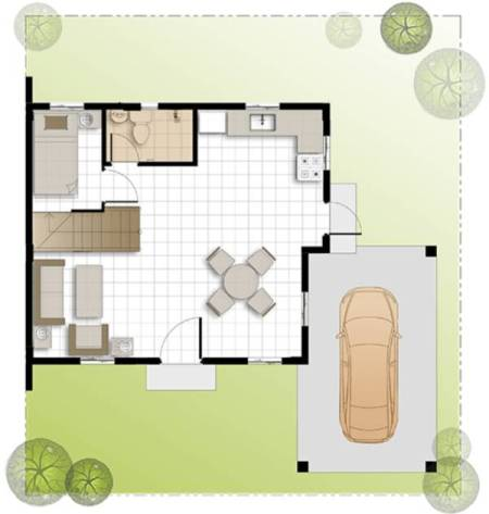 camella homes dana ground floor plan