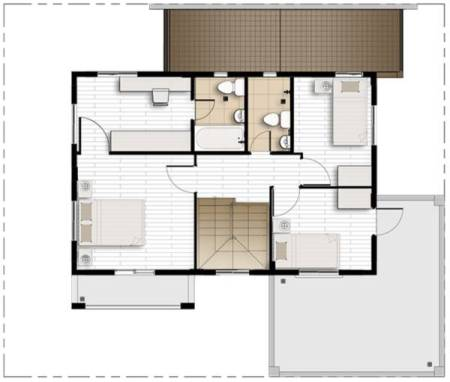 camella greta second floor plan