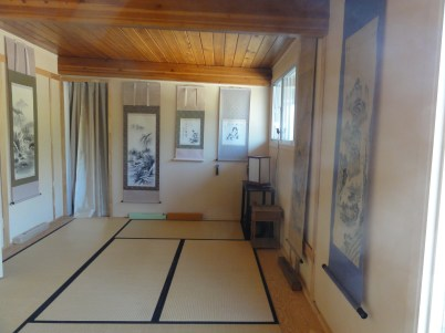 The tatami space where students can study if they prefer seiza (kneeling) style lessons.