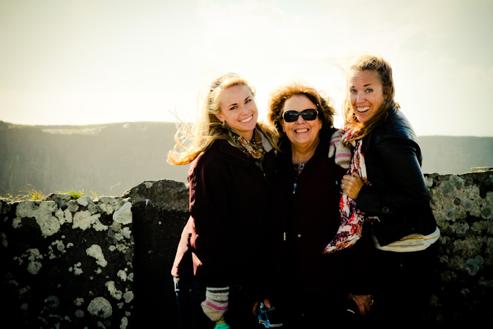 Family photo at Cliffs of Moher, Ireland