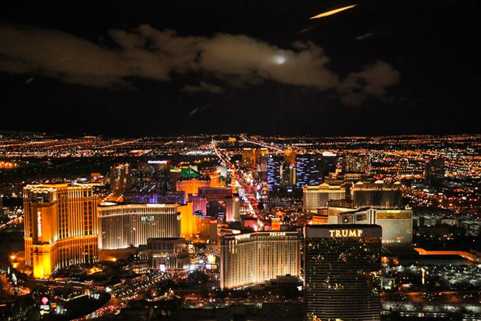Las Vegas from a helicopter