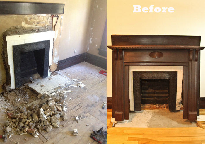 Fireplace, Before