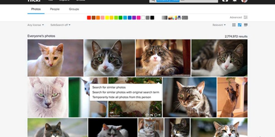 Flickr update lets you search for visually similar photos