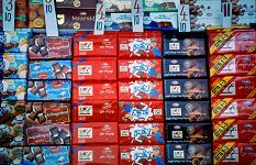 Elite Chocolates in Hebrew and English in Israel - photograph copyright Lorelle VanFossen