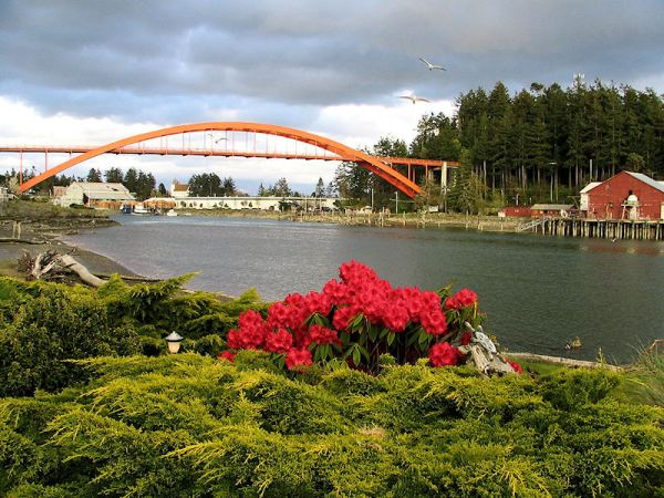 Bridge over La Conner, Washington, by Lorelle VanFossen