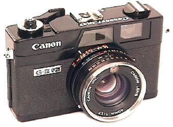 Canonet hitam, compact rangefinder keluaran Canon