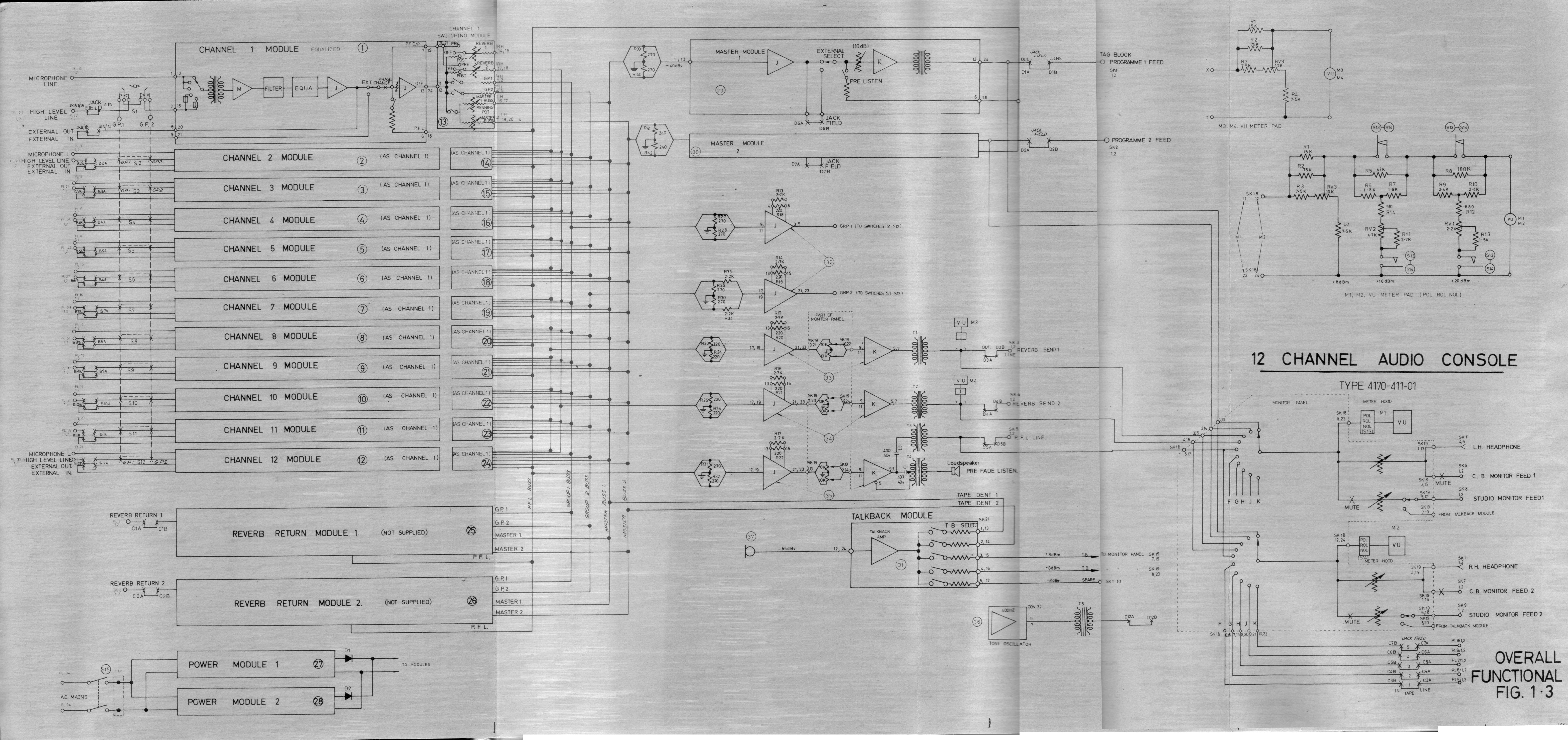 Astor Audio Mixer Type 411 01 Handbook Scans