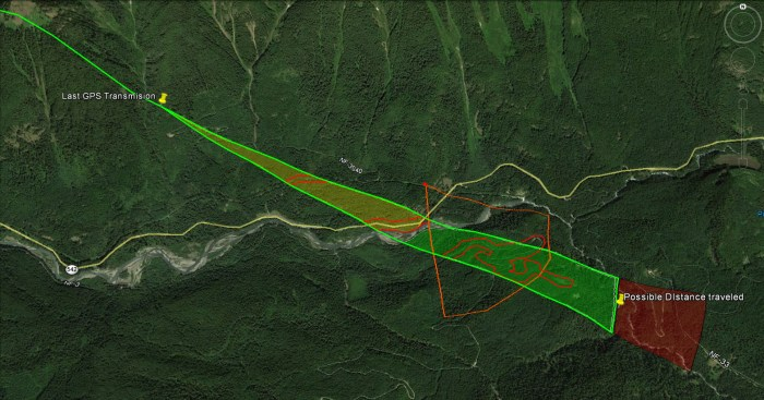 Projected Flight Path Data Extrapolation