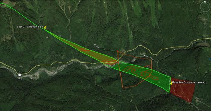 Projected Flight Path Data Extrapolation