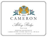 2014 Abbey Ridge Pinot noir label