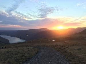 Sunset at Scafell