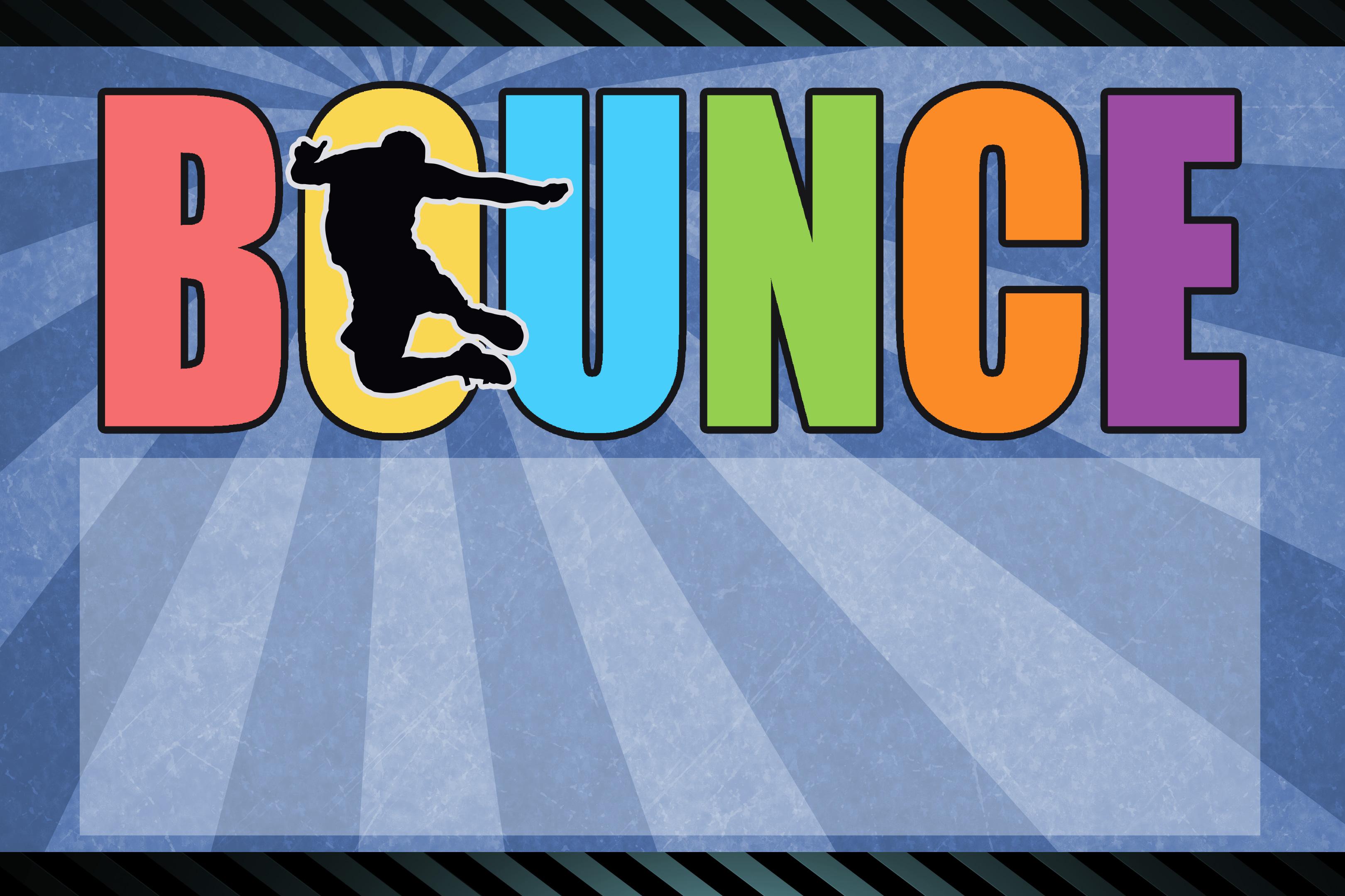bounce house trampoline birthday invite